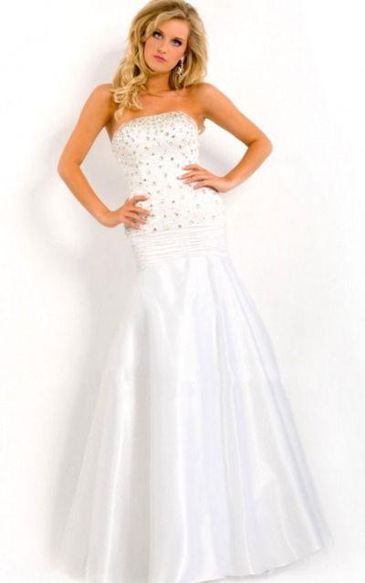 Strapless Floor-length Satin Natural Backless Formal Dresses gjea71286