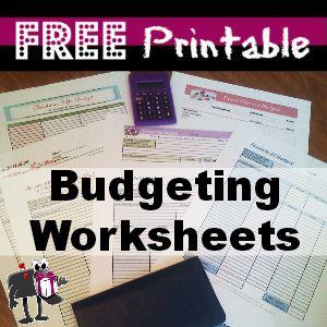 Free Printable Budgeting Worksheets http://freebies4mom.com/2012/07/23/free-printable-budgeting-worksheets/