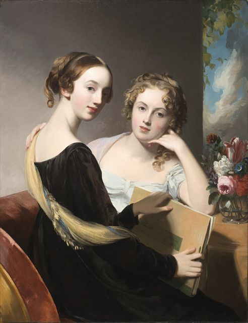 Thomas Sully. Portrait of the Misses Mary and Emily McEwen. Oil on canvas. 1823. Los Angeles County Museum of Art.