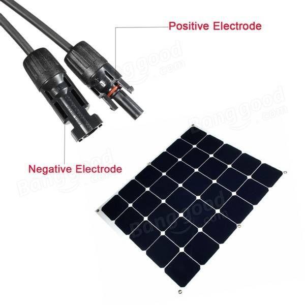 Panneau solaire semi-flexible 100w pour l' embarcation rv home en camping chargeur de batterie
