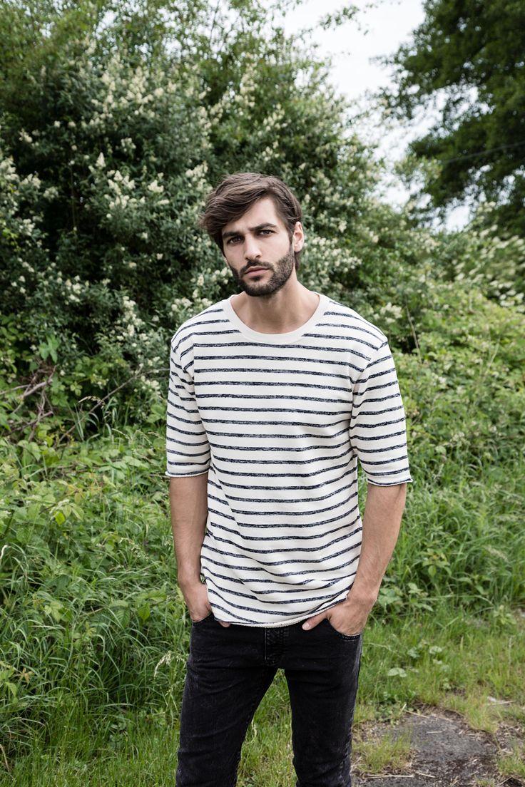 Model Sami Falk Taha in his 🆕 oversized ARISTOTELI BITSIANI mariniere sweatshirt ⚓️#aristotelibitsiani #bitsianibloggers