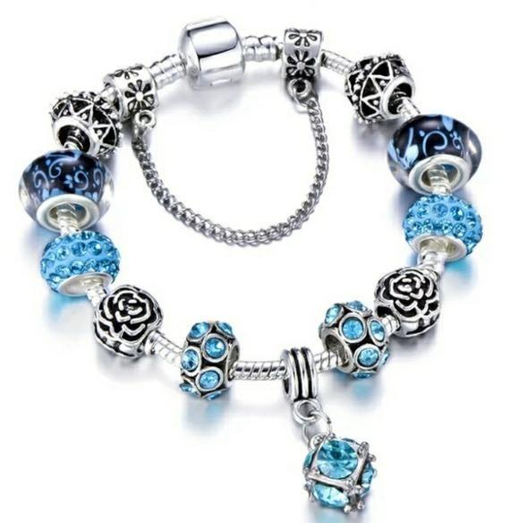Pandora Charm Bracelet Murano Floral Bracelet Grandmother Gift Etsy In 2020 Pandora Charm Bracelet Bead Charm Bracelet Charm Bracelet