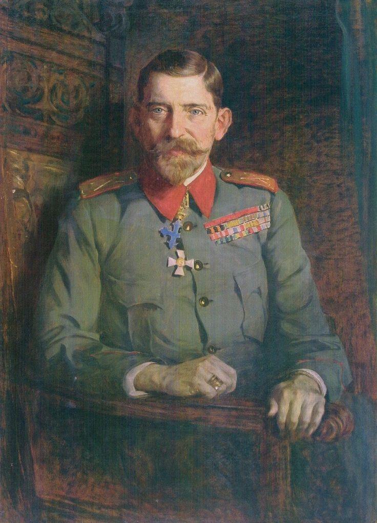 Portrait of King Ferdinand of Romania, 1925 by Paja Jovanović ( Vršac 1859 – Vienna 1957).......Ferdinand I (Ferdinand Viktor Albert Meinrad (1865 – 1927) was King of Romania from 10 October 1914 until his death in 1927....