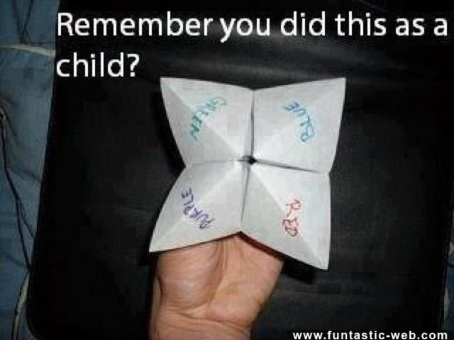 ChildHood Memories... I still do these :P