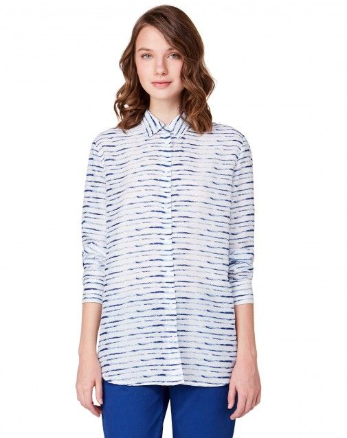 Shop Patterned shirt Light Blue for WOMEN at the official United Colors of Benetton online shop.