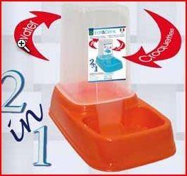 DISTRIBUTORE ACQUA-CIBO   Distributore per acqua e/o crocchette eat & drink mini in plastica con antiscivolo per cani, gatti e piccoli animali nei colori rosso, verde e/o blu.  4,30 €  https://www.pets-house.it/ciotole-e-distributori/634-distributore-acqua-cibo-8016040100916.html