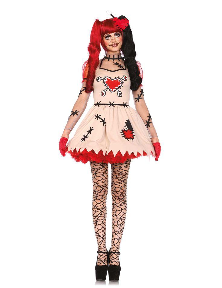 Disfraz de muñeca vudú mujer Halloween: Este disfraz de muñeca vudú para mujer…