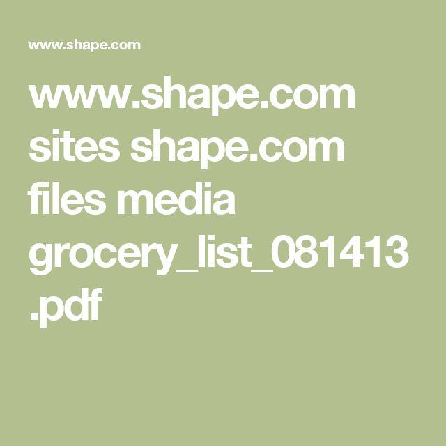 www.shape.com sites shape.com files media grocery_list_081413.pdf
