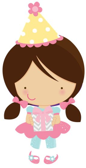Cute Clipart.                               ZWD-girl-birthday-party-clipart - Minus