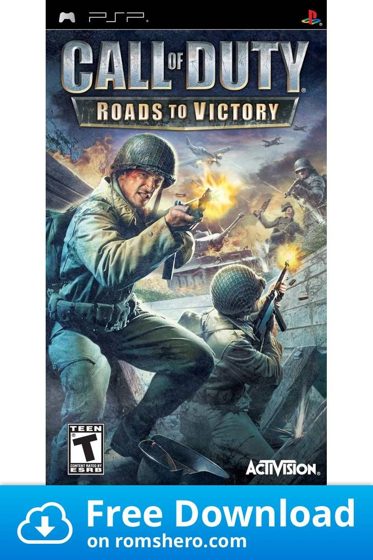 Download Call Of Duty Roads To Victory Playstation Portable Psp Isos Rom Call Of Duty Call Of Duty Zombies Victorious