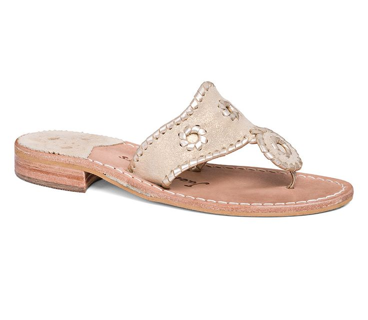 Jack Rogers Stardust Sandal- Platinum from Shop Southern Roots TX