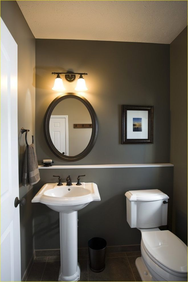 55 Awesome Powder Room With Accent Wall Ideas