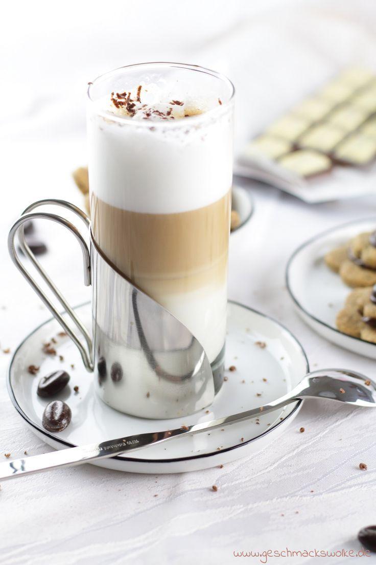 Schokolade Trifft Auf Kaffee Latte Macchiato Kekse Kaffee Kekse