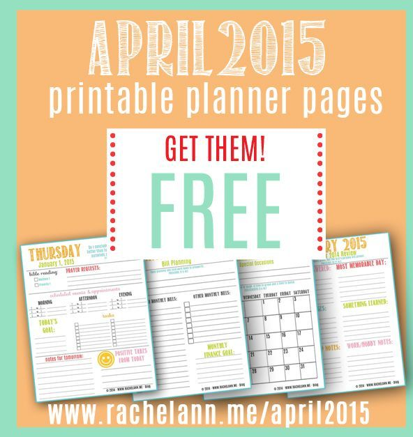 April Reading Calendar : Free download april printable planner daily