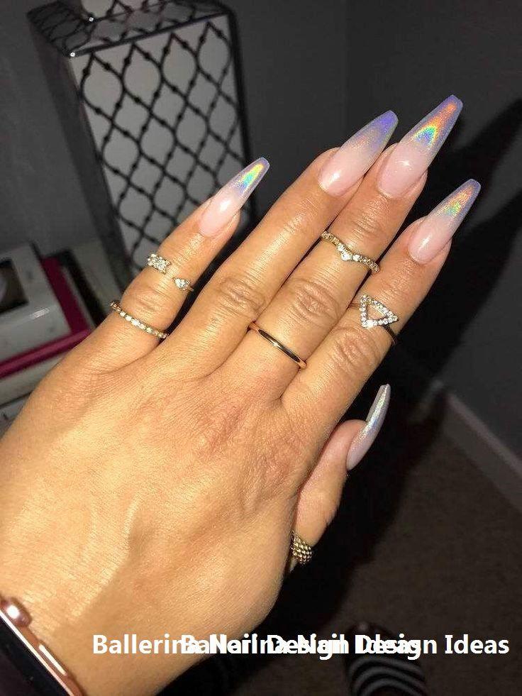 Trendy Ballerina Nail Art 2019 Nail Nailideas Holographic Nails Clear Glitter Nails Maroon Nails