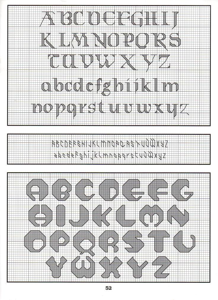 545 best Cross stitch and blackwork alphabets images on Pinterest ...
