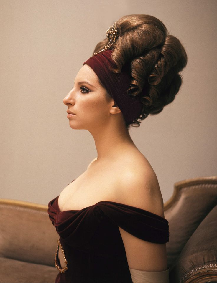 """Rare Photos From Barbra Streisand's Glory Days"" by Erica Schwiegershausen for NYMag - The Cut. October 12, 2014. Photo: On the set of On a Clear Day You Can See Forever, 1970.   by Cecil Beaton."