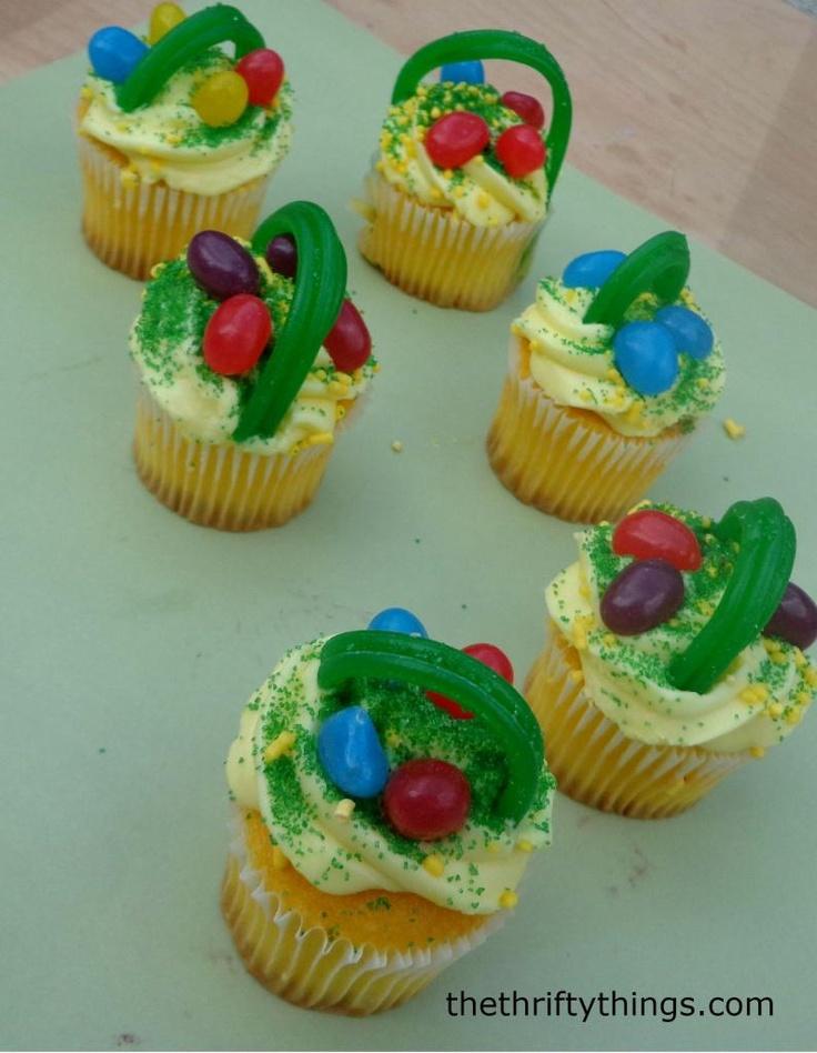 Easter Basket Cupcakes, Easter desserts