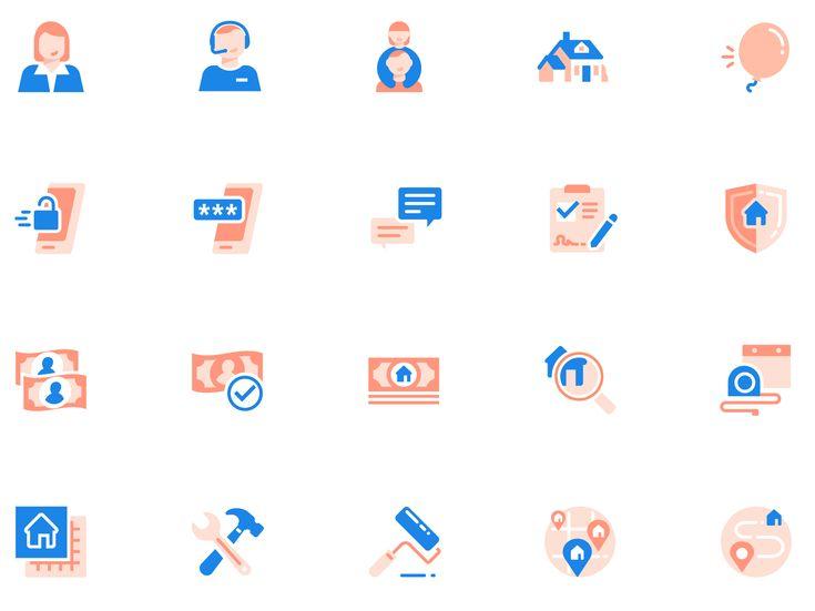 Opendoor icon set