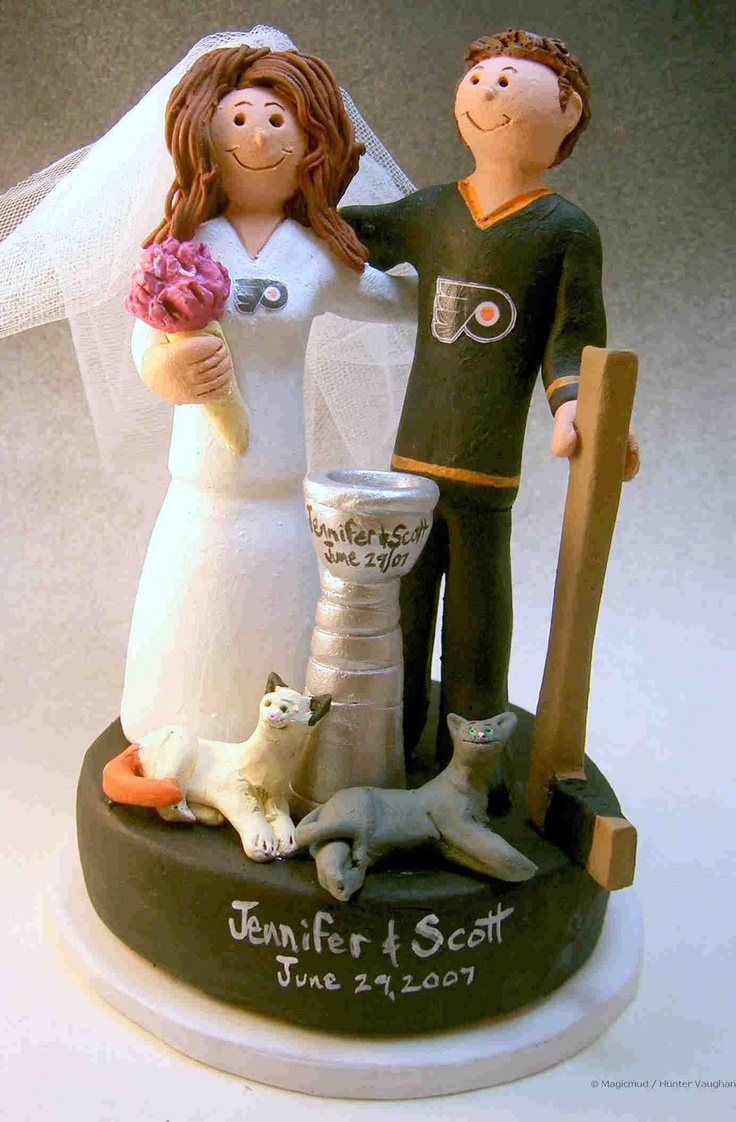 hockey themed wedding cake toppers 55 best hockey themed wedding ideas images on 15262