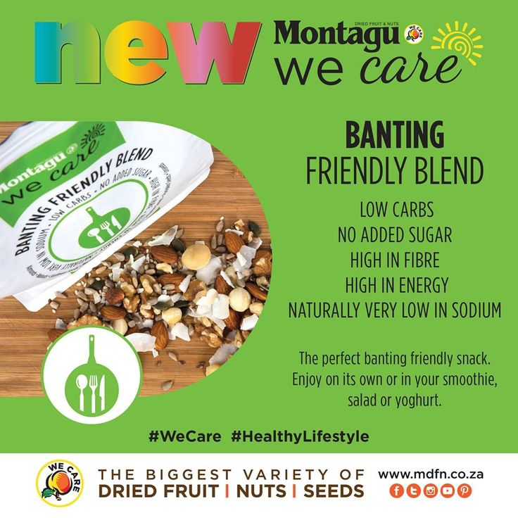 On a Banting eating plan? Our brand new Banting Friendly blend is the perfect mix to support your modern lifestyle!   This new blend: - is low in carbs - has no added sugar - is high in fibre - is high in energy - is naturally very low in sodium  Try it today: http://bit.ly/1TXrqDI  #Banting | #WeCare | #HealthyLifestyle