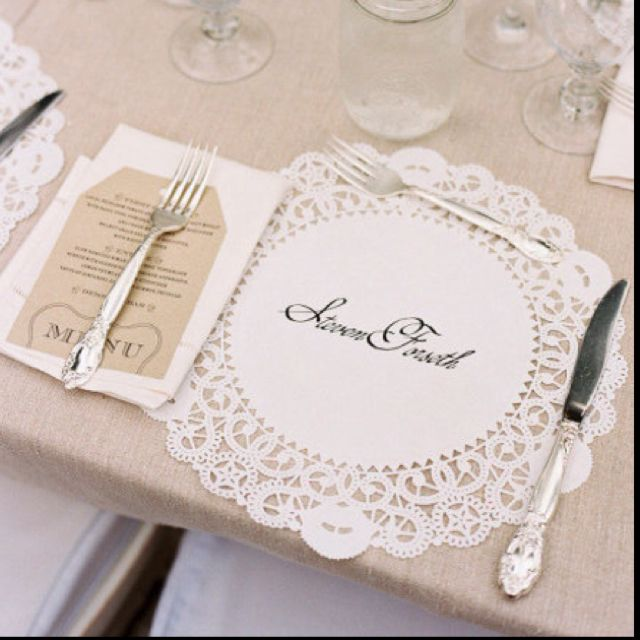 Lacy placemat - fun replacement for chargers