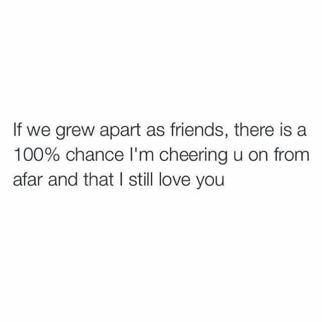 I Love You Quotes: If We Grew Apart As Friends There Is A 100% Chance I'm