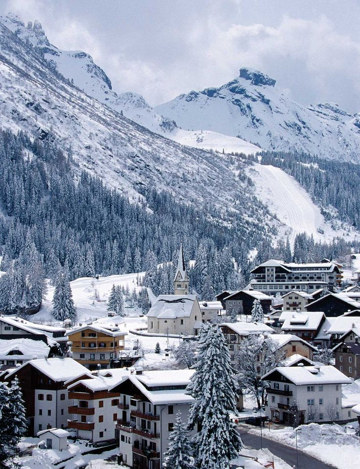 Ski resort in Arabba, Belluno Province, Veneto Region, Italy