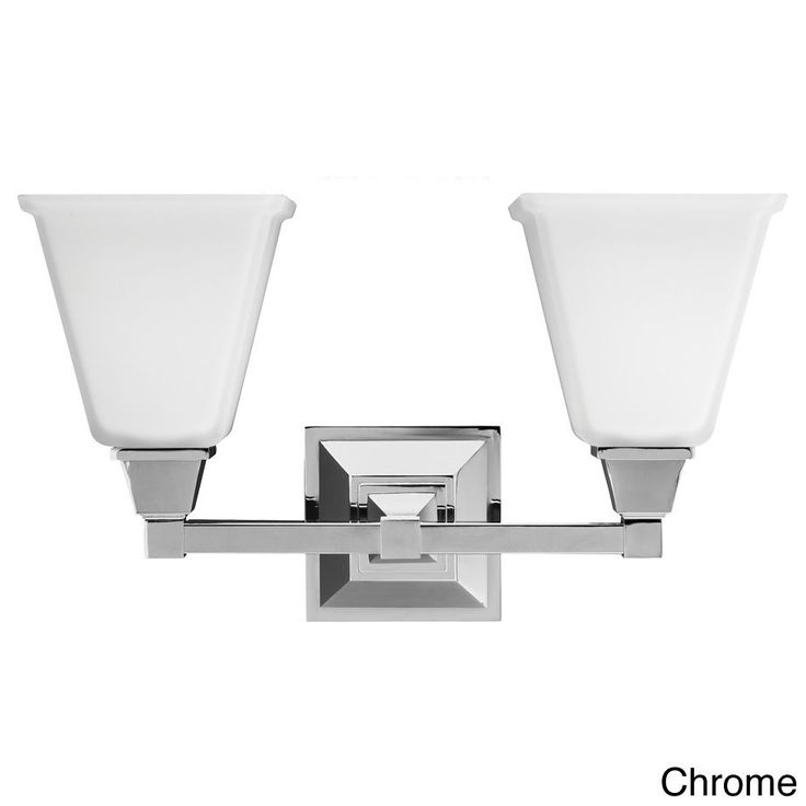Denhelm 2-light Etched Glass White Shade Wall Vanity - Overstock Shopping - Top Rated Seagull Lighting Sconces & Vanities
