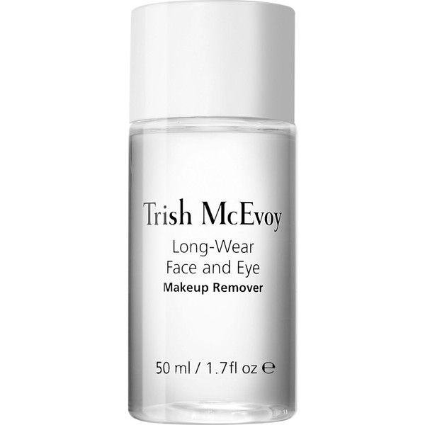 TRISH MCEVOY Long-wear face and eye make-up remover skin cleansing... ($19) ❤ liked on Polyvore featuring beauty products, skincare, face care, makeup remover, trish mcevoy, eye makeup remover, oil free makeup remover and oil free eye makeup remover