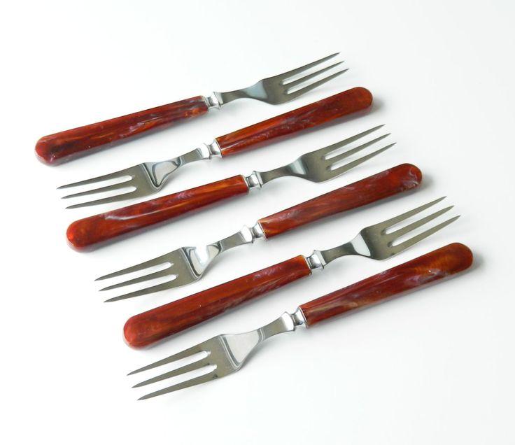 Danish Modern Forks KAY BOJESEN BRUN Vintage New in Box Universal Steel Company 1950s by retrogroovie on Etsy
