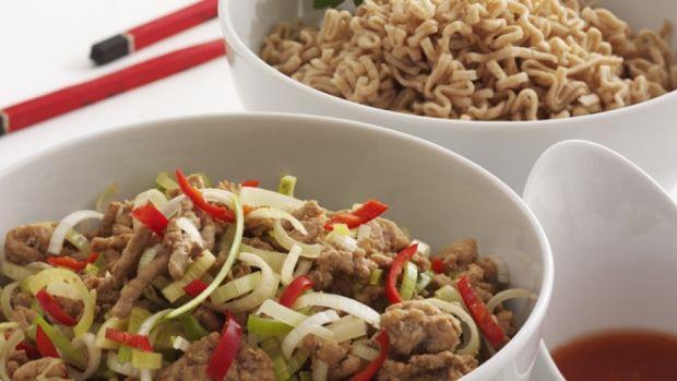 Opskrift på chili-Teriaky-wok