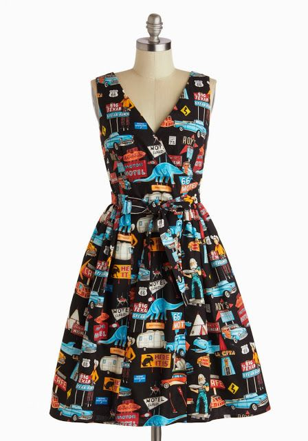Novelty print dresses! Click through for more. Gertie's New Blog for Better Sewing