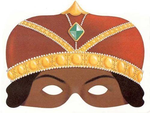 BAÚL DE NAVIDAD: Caretas coloreadas de los Reyes Magos de Oriente