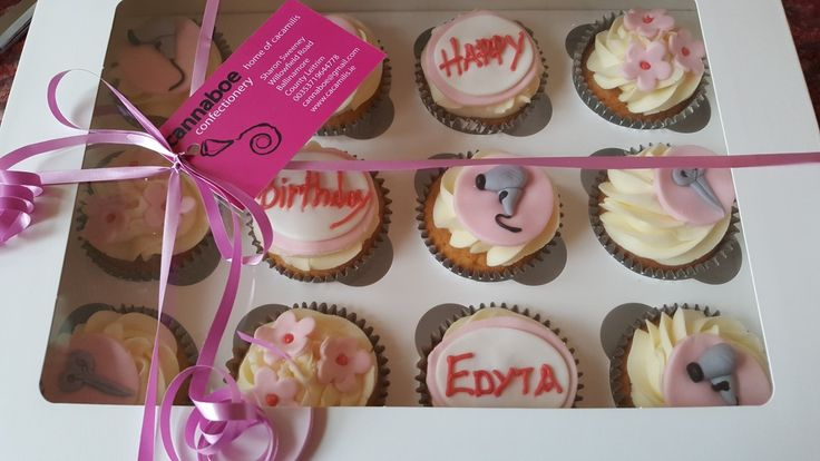 Cupcake treat for a hairdresser #cupcakes #hairdressercupcakes