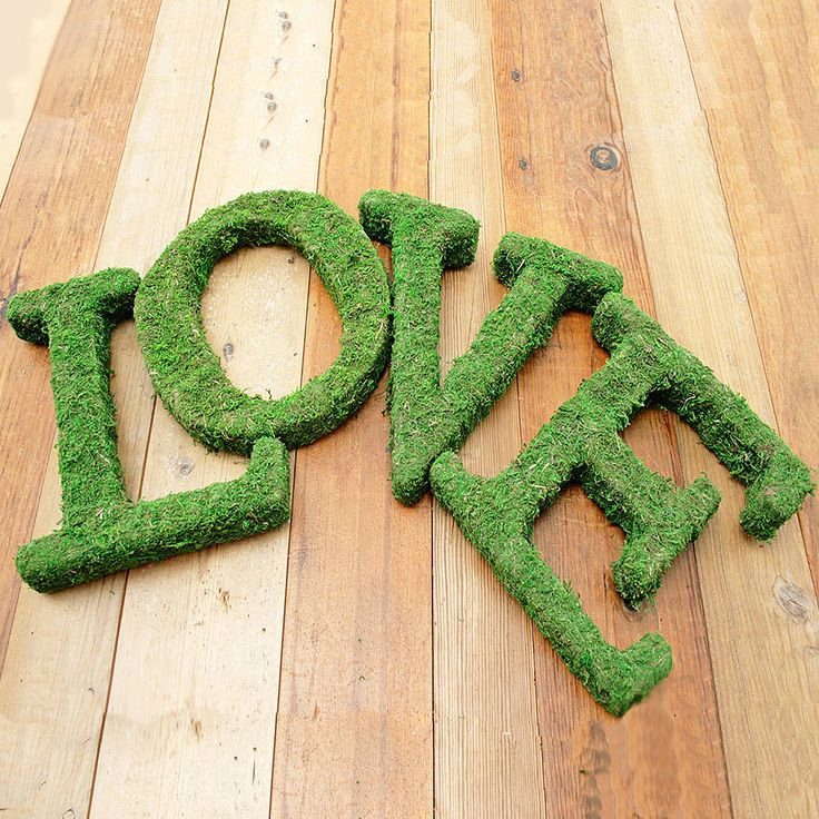 Moss Covered Letters: 98 Best Images About Moss On Pinterest