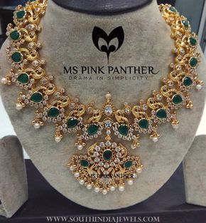 Gold+Plated+Emerald+Necklace+From+Ms+Pink+Panthers