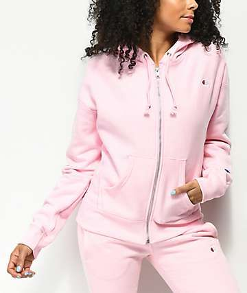 180d3f1a2 Champion Candy Pink Reverse Weave Zip Up Hoodie in 2019