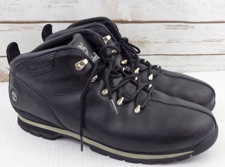 Timberland Splitrock Mens Black Leather Hiking Boots Size 12 M 95132 #Timberland #HikingTrail