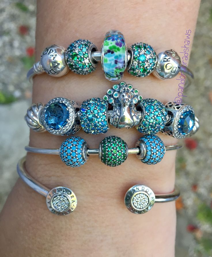 pandora peacock arm stack more