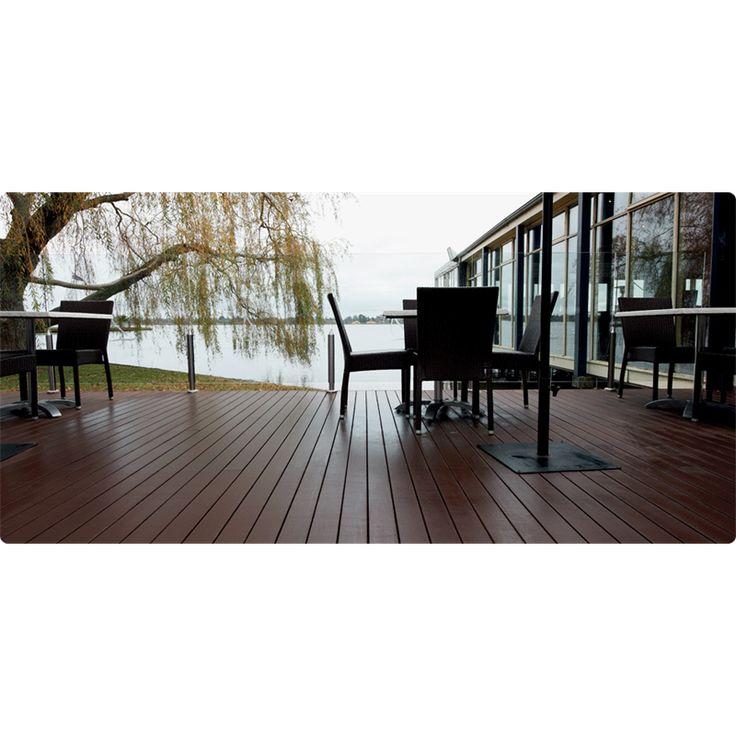 Ekodeck 88 x 23mm dark brown composite decking for for 4m composite decking boards