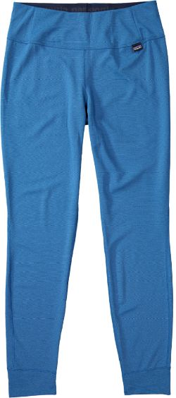 Patagonia Women's Capilene Midweight Long Underwear Bottoms Big Sur Blue/Andes Blue X-Dye XXS