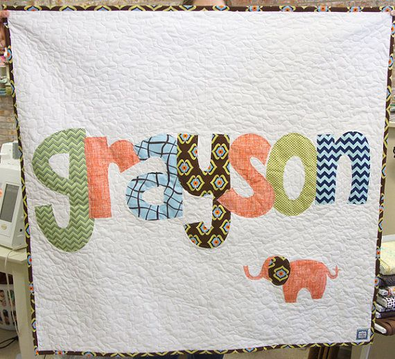 The Original Personalized Quilt 40 X 40 Baby Quilt Raw