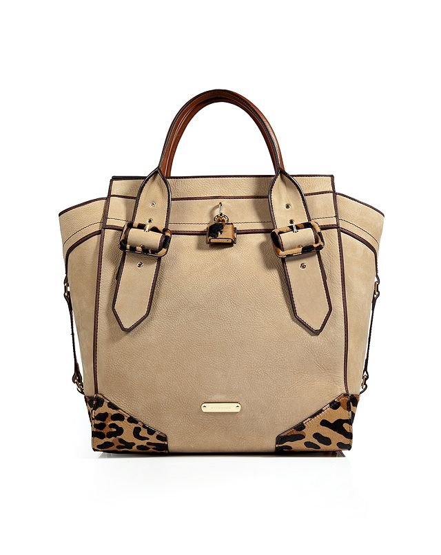 Burberry Leatherhaircalf Manor Tote in Honey in Beige (honey)   Lyst