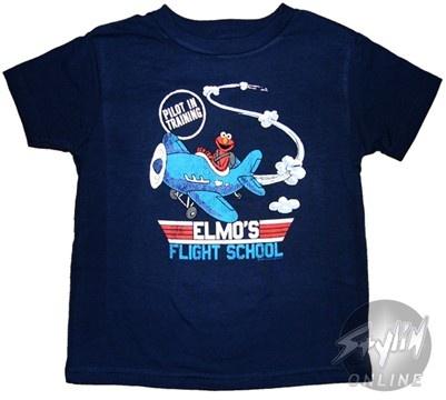 Sesame Street Elmo Flight School Kids T-Shirt