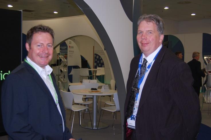 Heiler and Descom CEOs, Frank Schmidt and @juhaharju