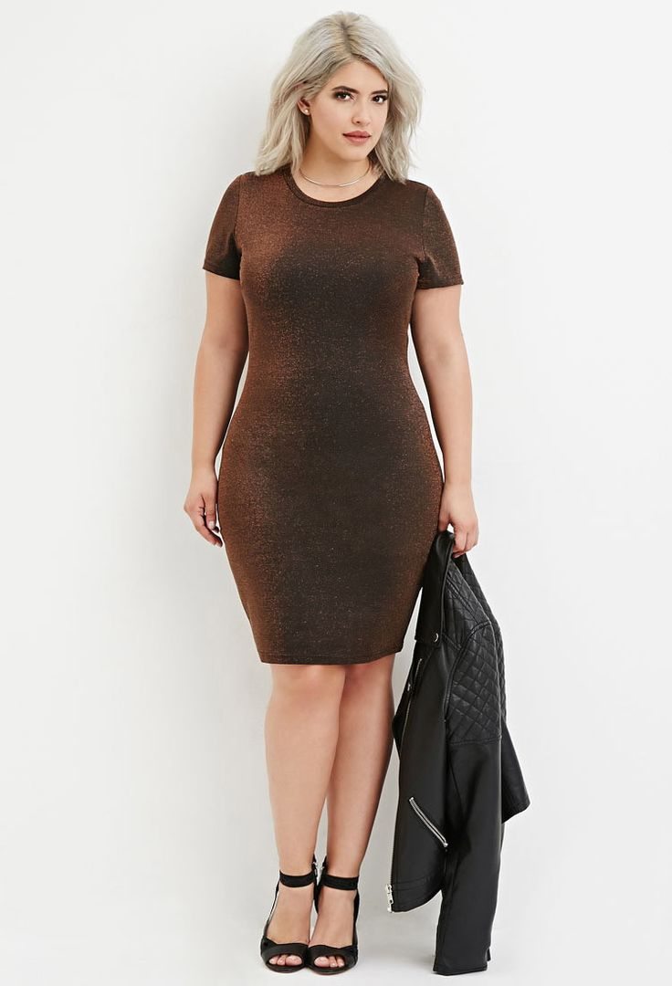 Plus Size Metallic Knit Dress | Forever 21 PLUS - 2000145440