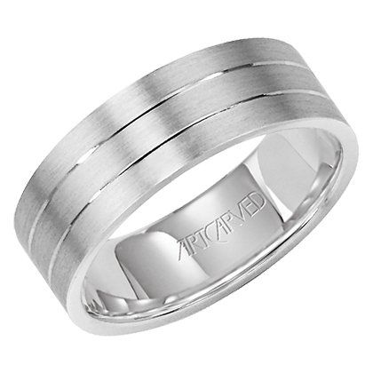 Platinum Mens Wedding Ring from ArtCarved: ArtCarved Bridal: Jewelry
