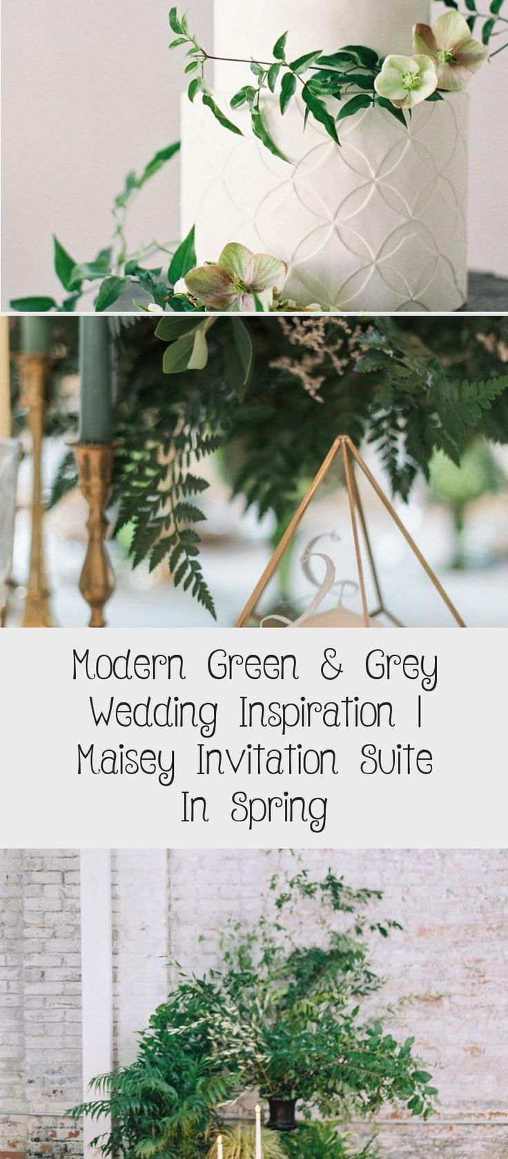 Botanical illustration Green & Grey Wedding inspiration perfect for a modern garden wedding or an urban wedding dripping with greenery. Palette of greens - emerald and sage. Earthy and organic with clean, modern touches. Bridesmaid dresses #BridesmaidDressesPastel #TaupeBridesmaidDresses #BridesmaidDressesMint #PeachBridesmaidDresses #BridesmaidDressesCoral