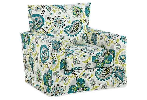 Best Rio Accent Chair Green Paisley Products Chairs And 400 x 300